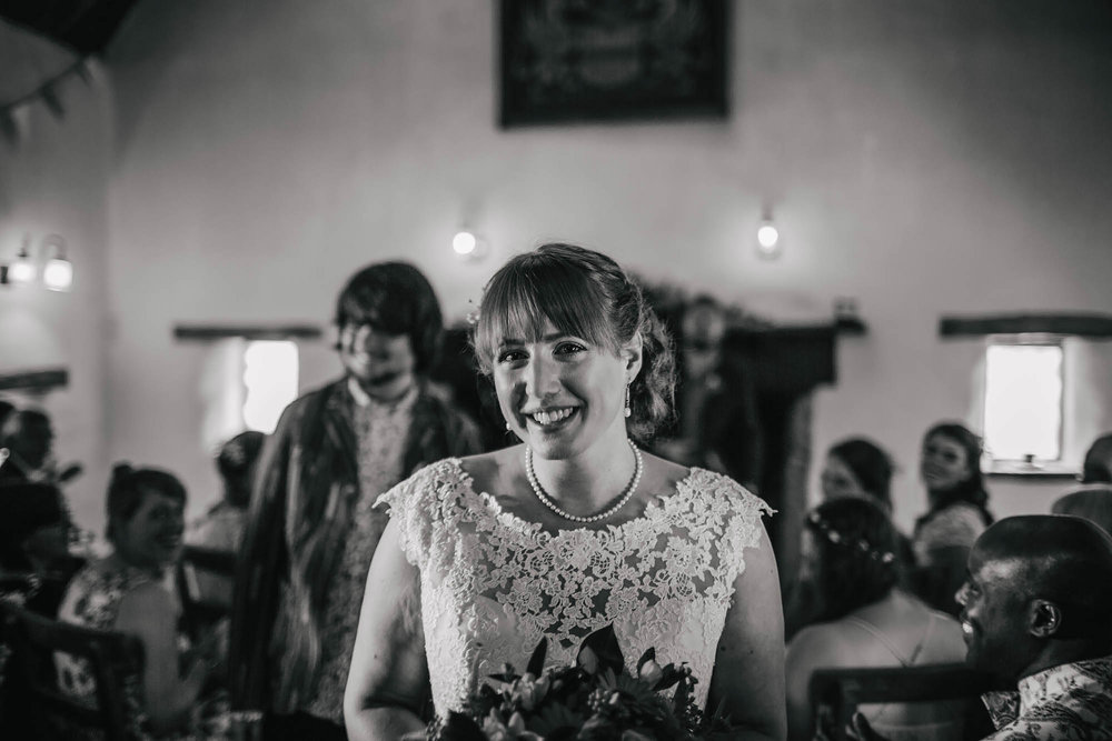 Leeds Yorkshire Wedding Photographer Bride Portrait Aisle