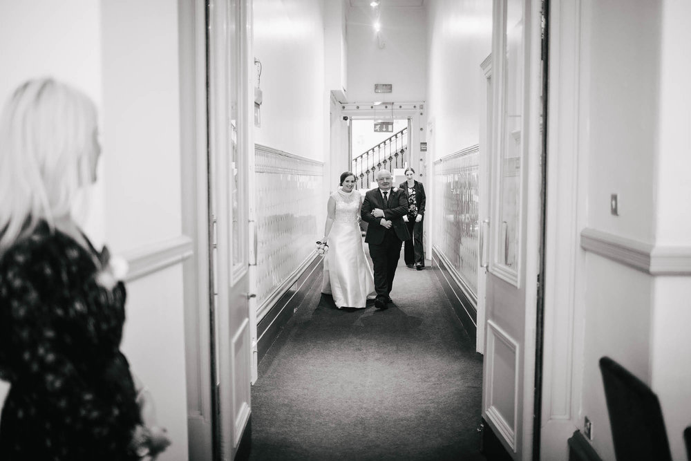 Leeds Yorkshire Wedding Photographer Bride Father Walk