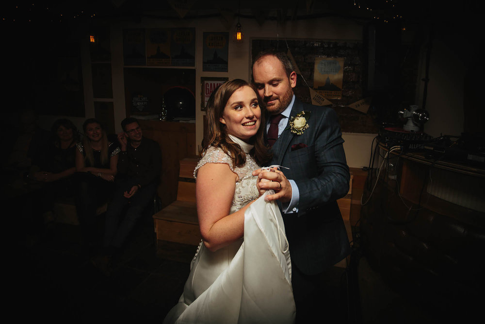Leeds Yorkshire Wedding Photographer First Dance Sela Bar