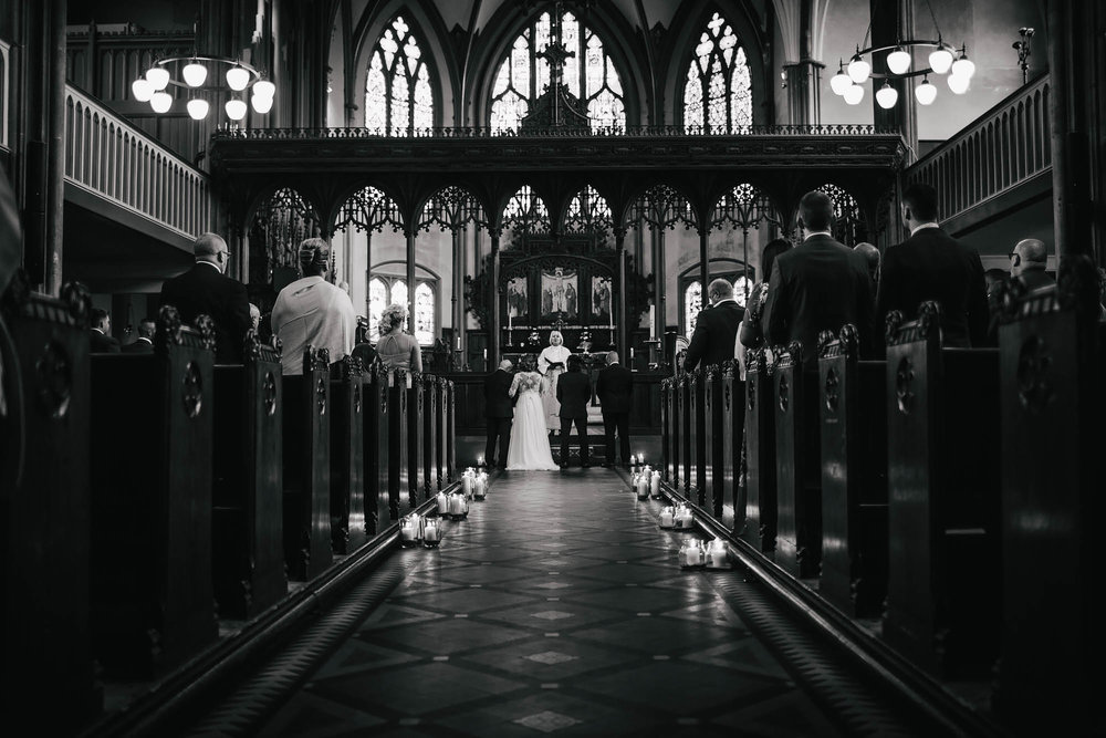 Leeds Yorkshire Wedding Photographer Church Bride Groom Aisle