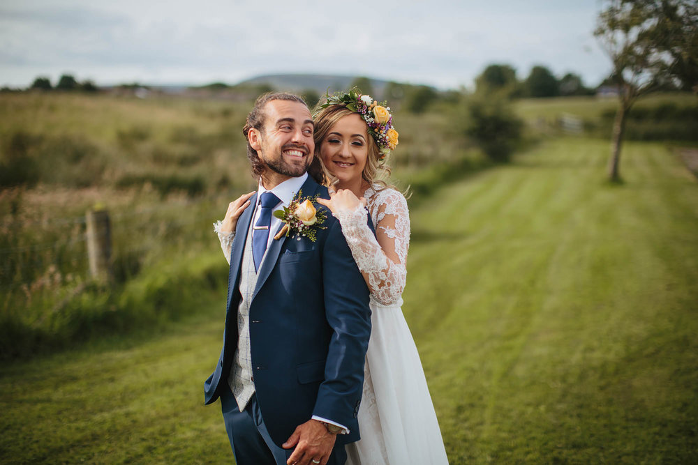 Bride and groom portrait at the Bolholt Country Park