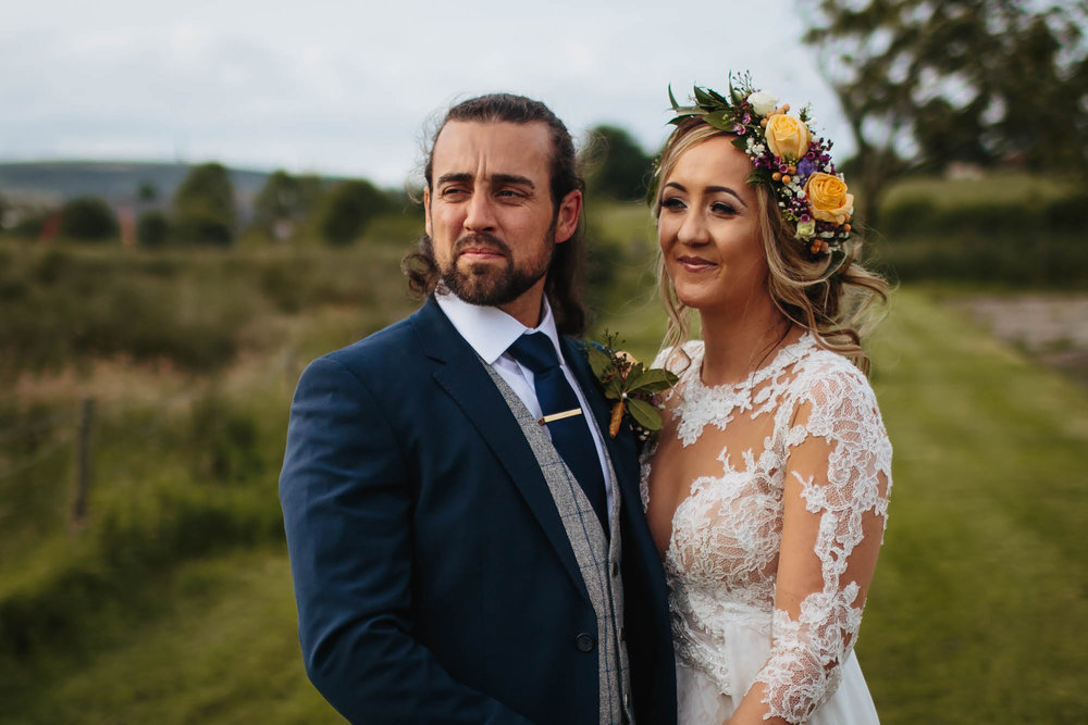 Bride and groom wedding portrait in Manchester