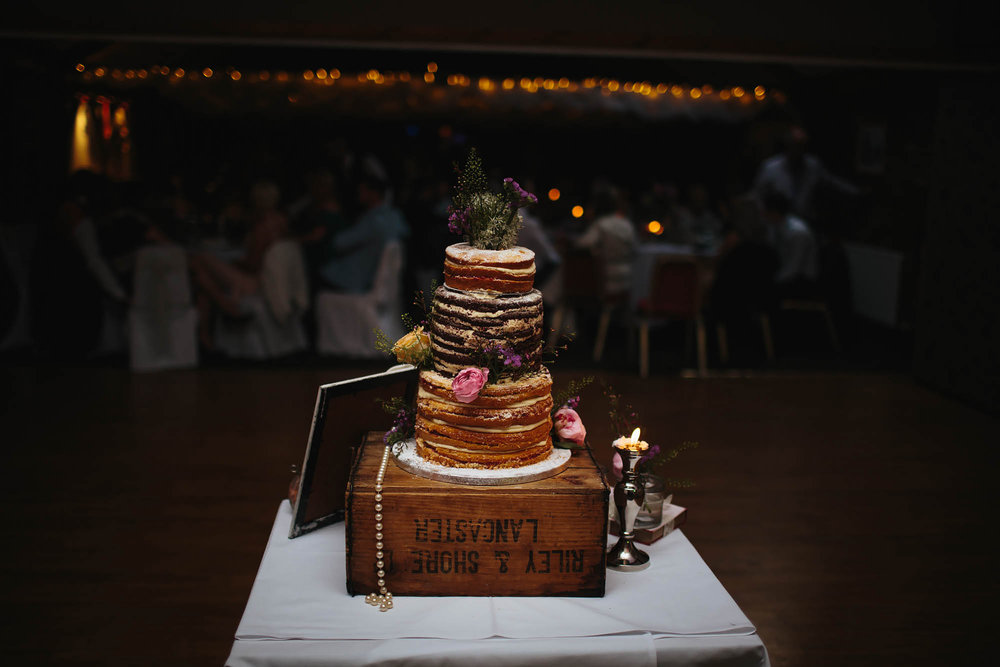 Cake at a wedding in Manchester