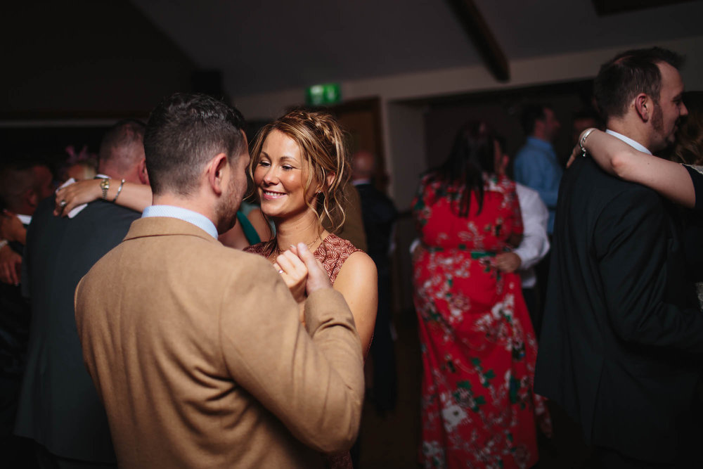 Guests dancing at a wedding party in Manchester