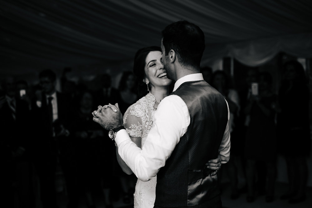 Bride and groom first dance at a wedding