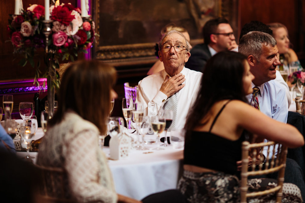 Wedding guests at Thornton Manor Cheshire
