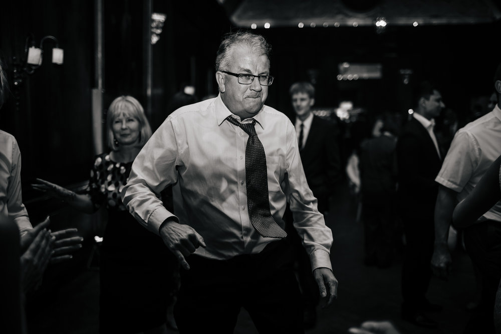 Guest dancing at a wedding party