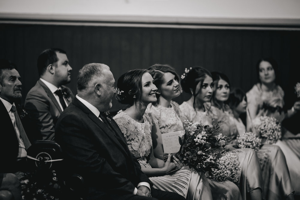 Bridesmaids at a church wedding in Leeds