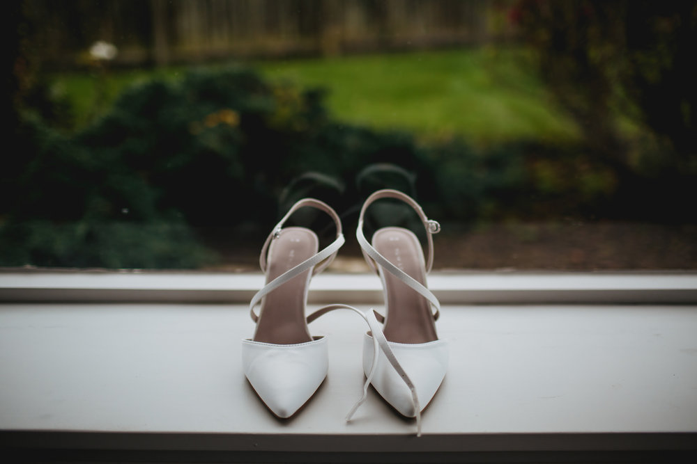 Wedding shoes in Crail Scotland