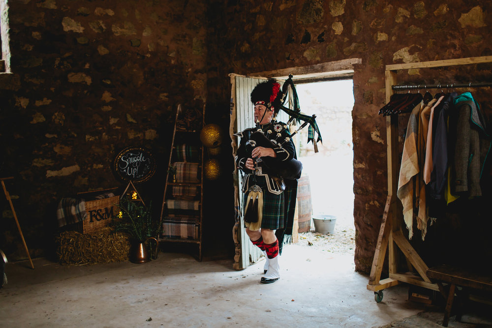 Piper at Cow Shed Crail Scotland