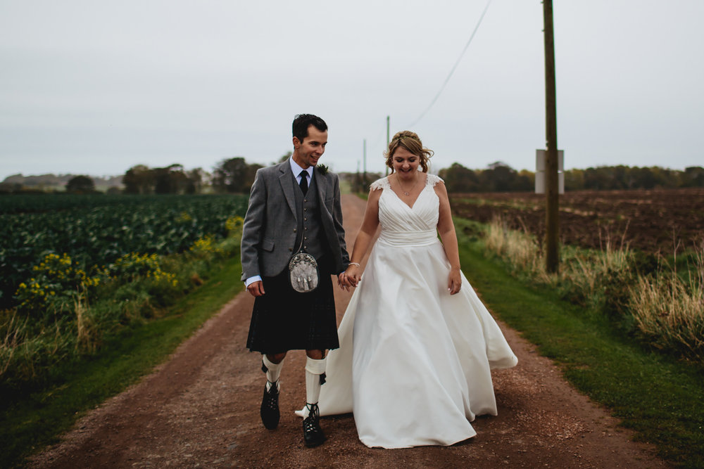 Wedding photographer at Cow Shed Crail