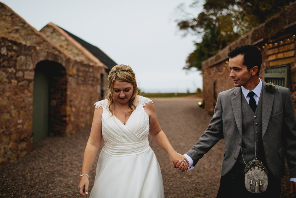 Couple portrait at Cow Shed Crail