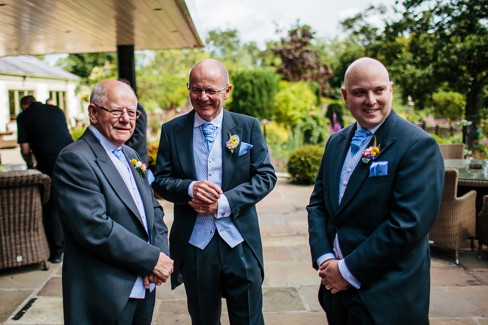 Grooms father at a wedding at Gibbon Bridge Hotel Lancashire