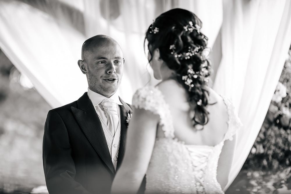 Groom saying his vows at a wedding