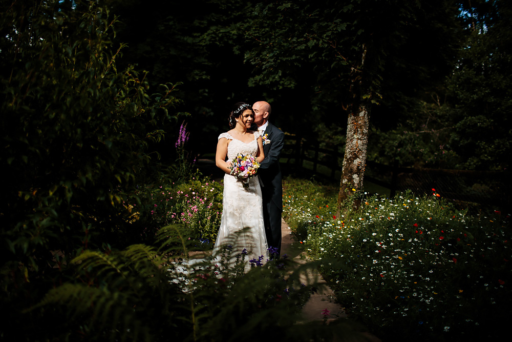 Bride and groom at a Gibbon Bridge Hotel wedding