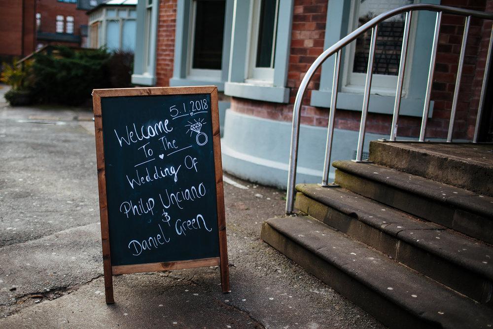 The Faversham Leeds Wedding Sign