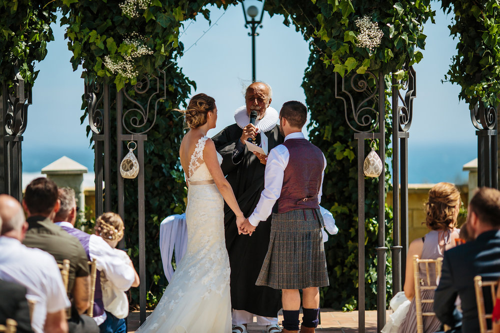 Outdoor ceremony at Cortijo Maria Luisa Nerja Spain