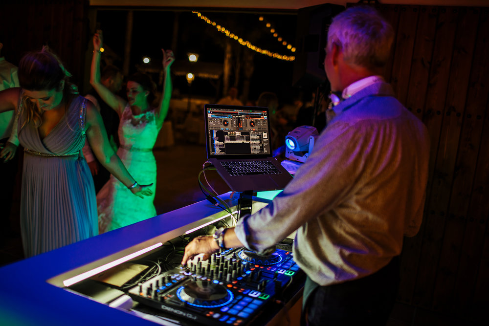 DJ entertaining the guests at a Spanish wedding Nerja