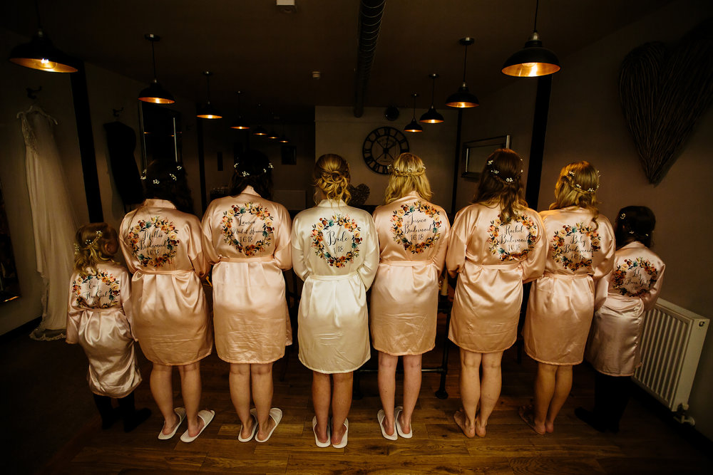 Bridal party dressing gowns in Shropshire