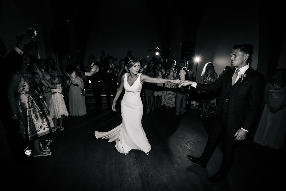 First dance at Mill Barns Wedding Venue Shropshire