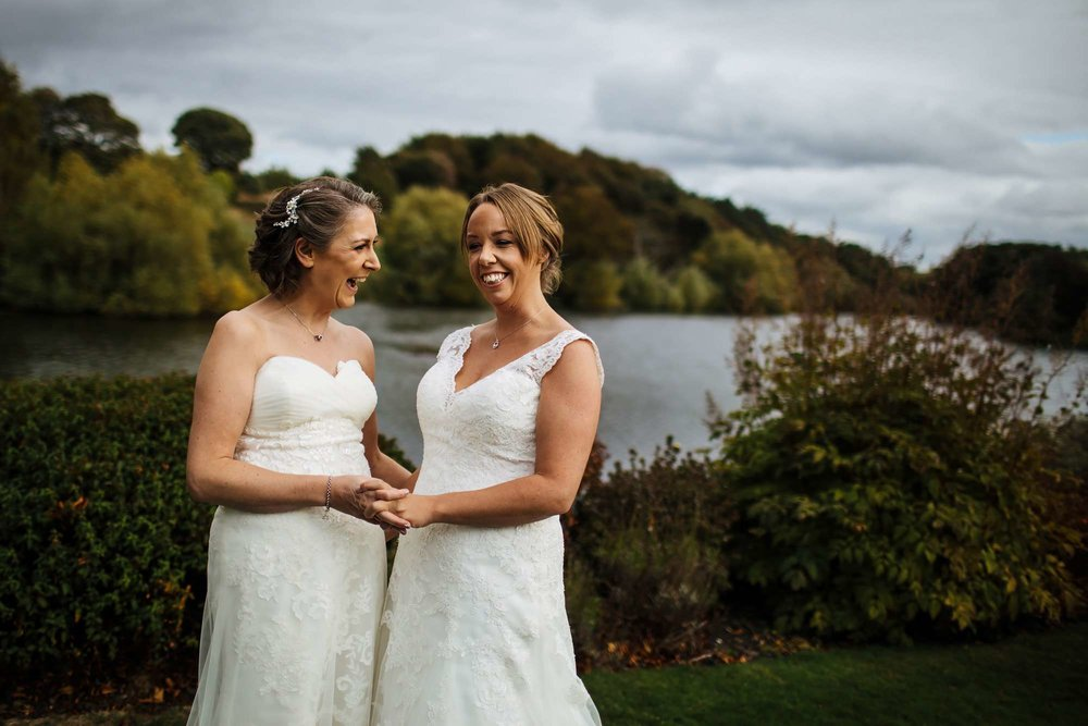 Gay wedding In Yorkshire with two brides