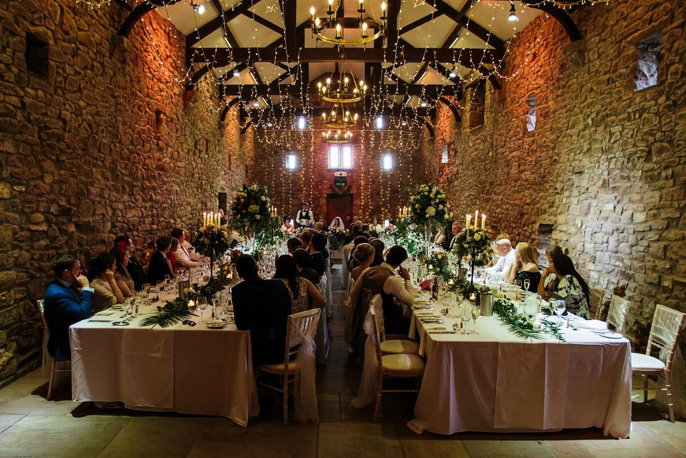Speeches at a Browsholme Hall Wedding