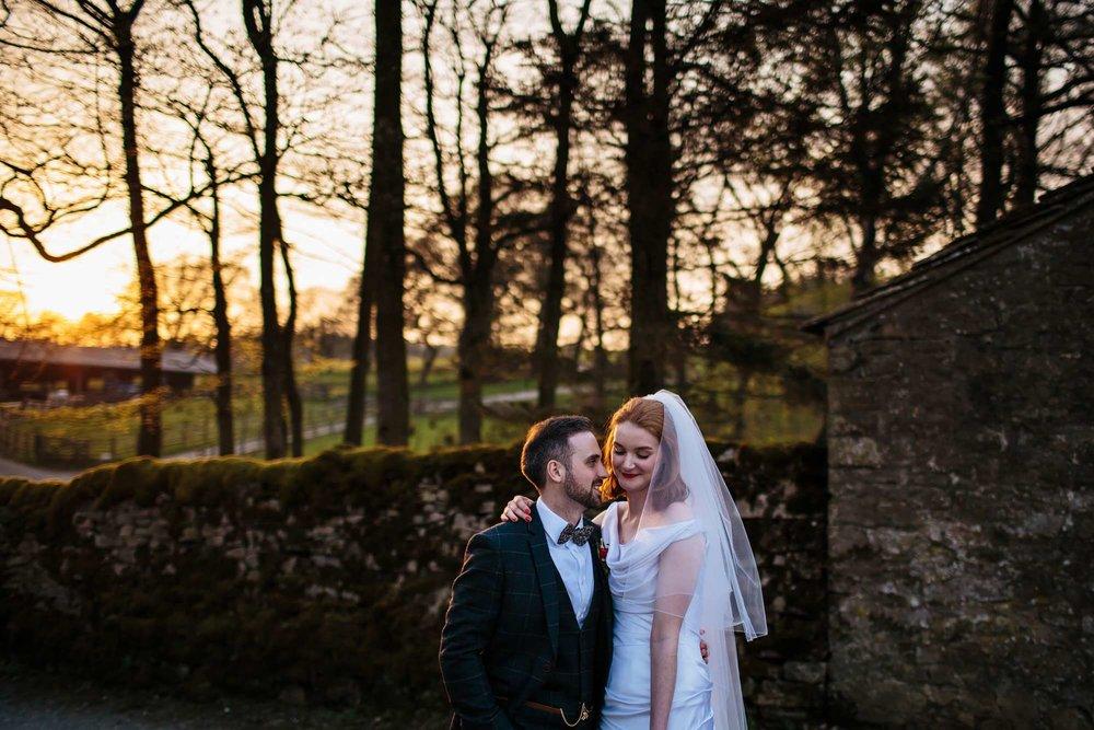 Lancashire wedding photography sunset
