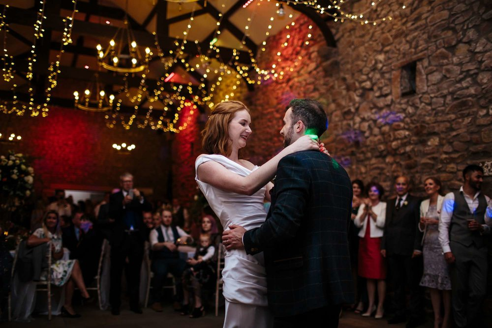 First dance at a wedding in Lancashire