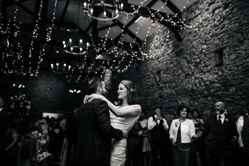 Bride and groom at their Browsholme Hall Wedding