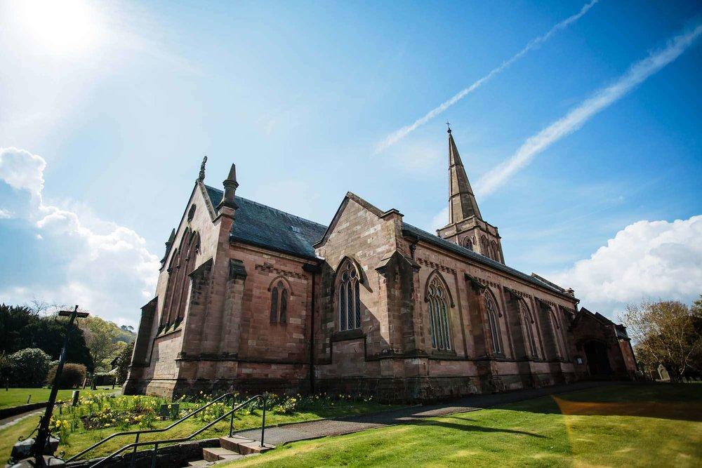 Keswick church wedding in the sunshine