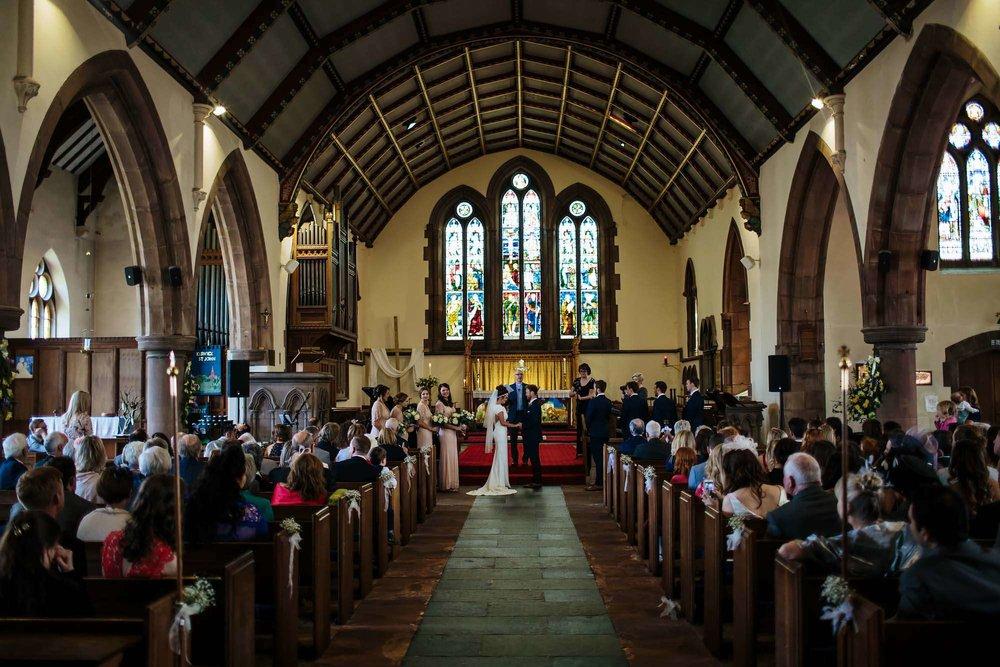 Lake District wedding photographer in Keswick church