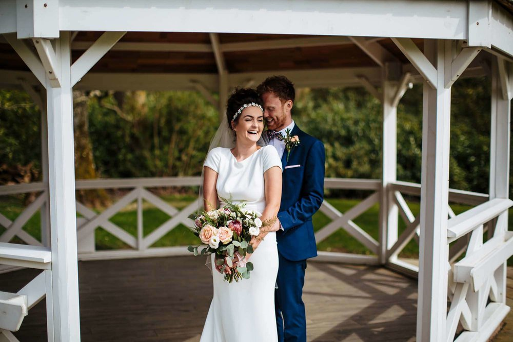 Bride and groom at Armathwaite Hall wedding