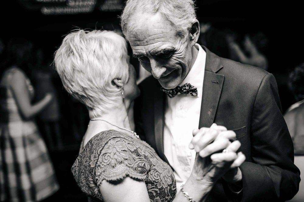 Brides parents dancing at a wedding at Armathwaite Hall