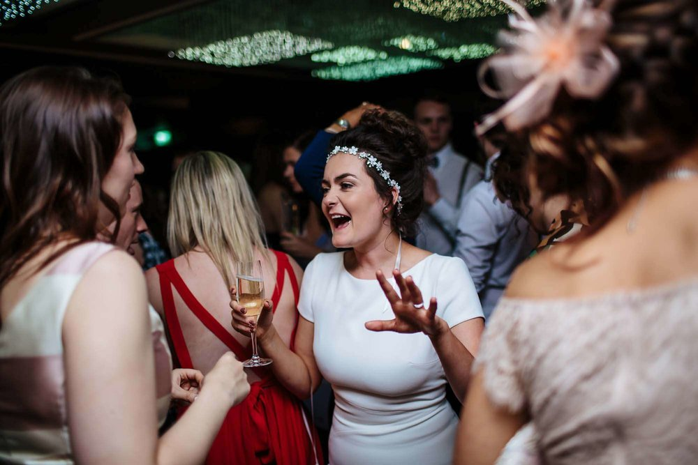 Bride dancing at her Lake District wedding