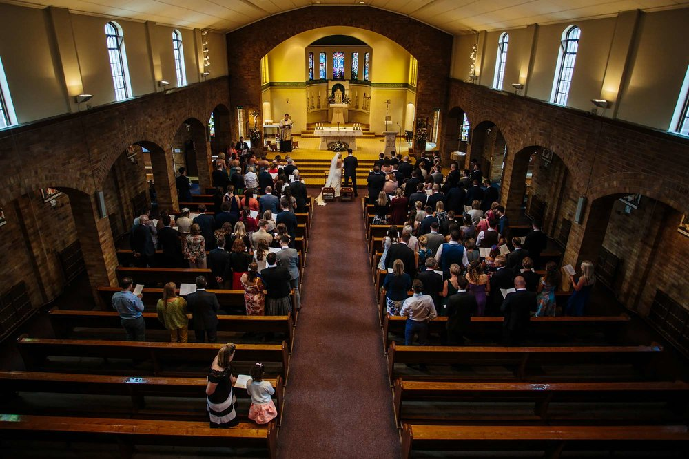 Overview of a Leeds church wedding ceremony