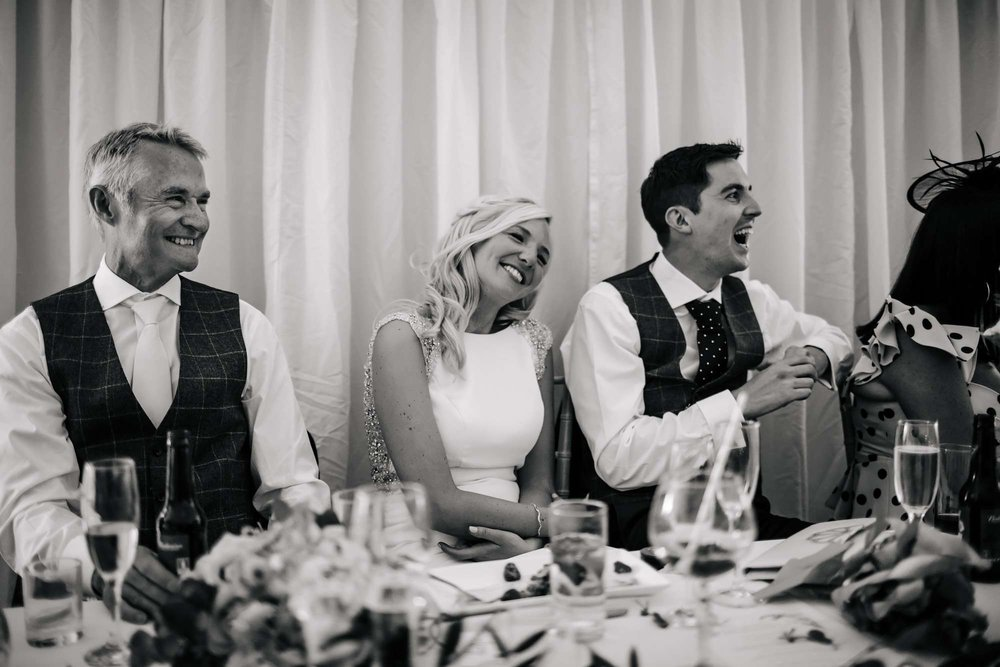 Funny reactions to the speeches at a Leeds Wedding