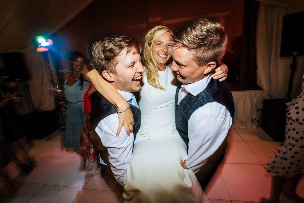 Bride on the dance floor in Leeds
