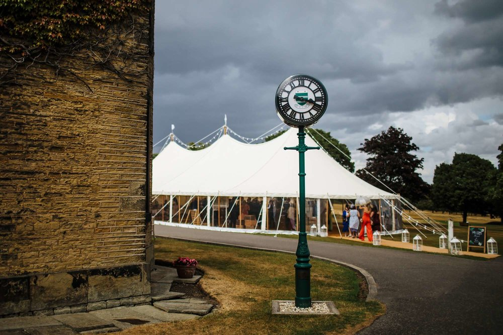 Marquee at a Fixby Hall wedding