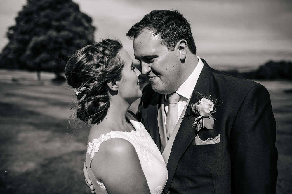 Bride and groom at a Yorkshire wedding