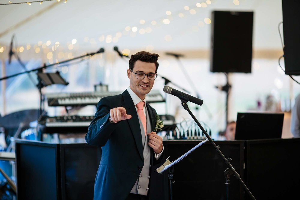 Best man's speech at a Yorkshire wedding