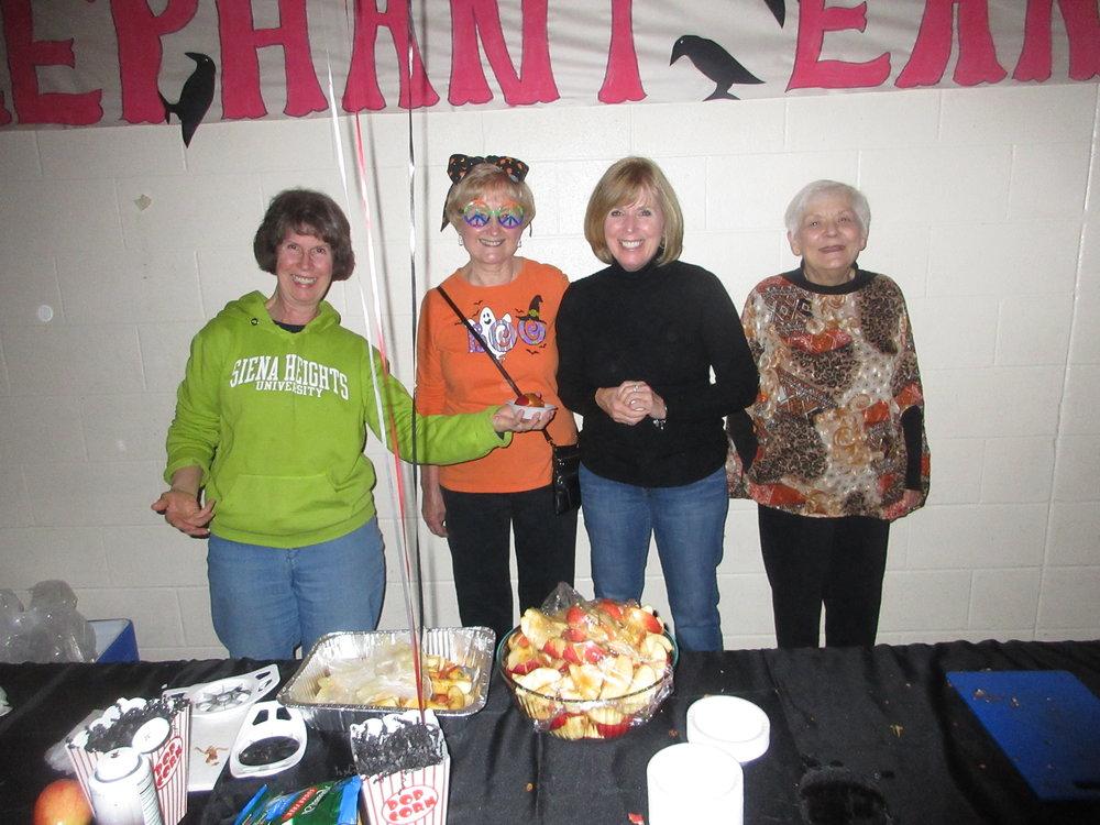 Civitans helping staff the HOPE Halloween dance.