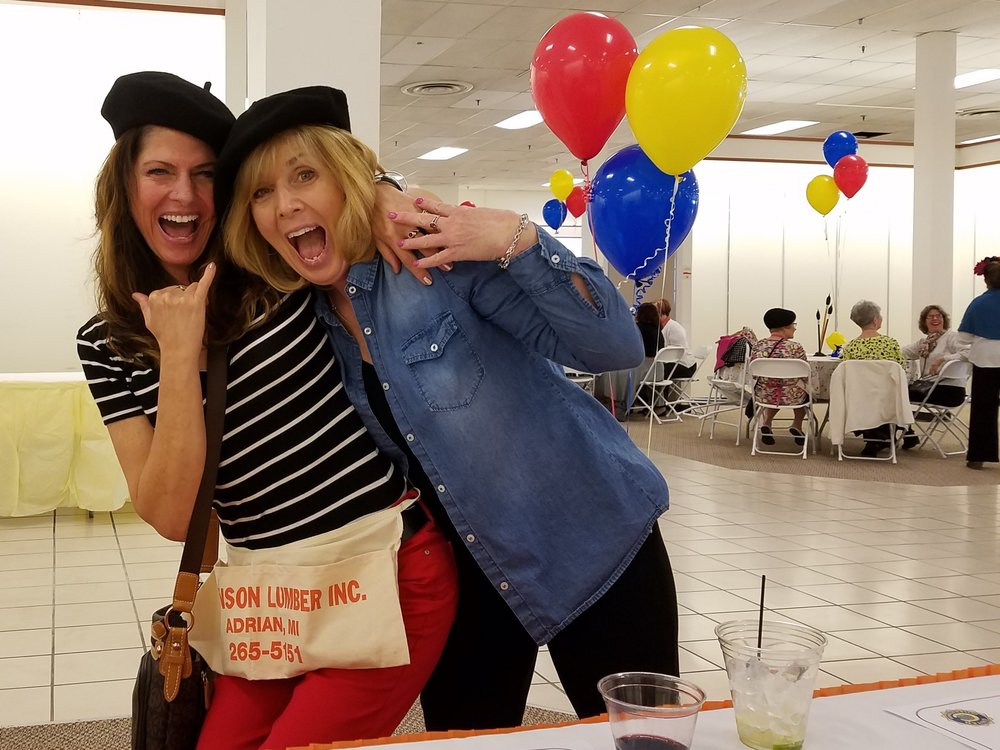 Two Civitans having a blast at our 2017 Grand Giveaway.