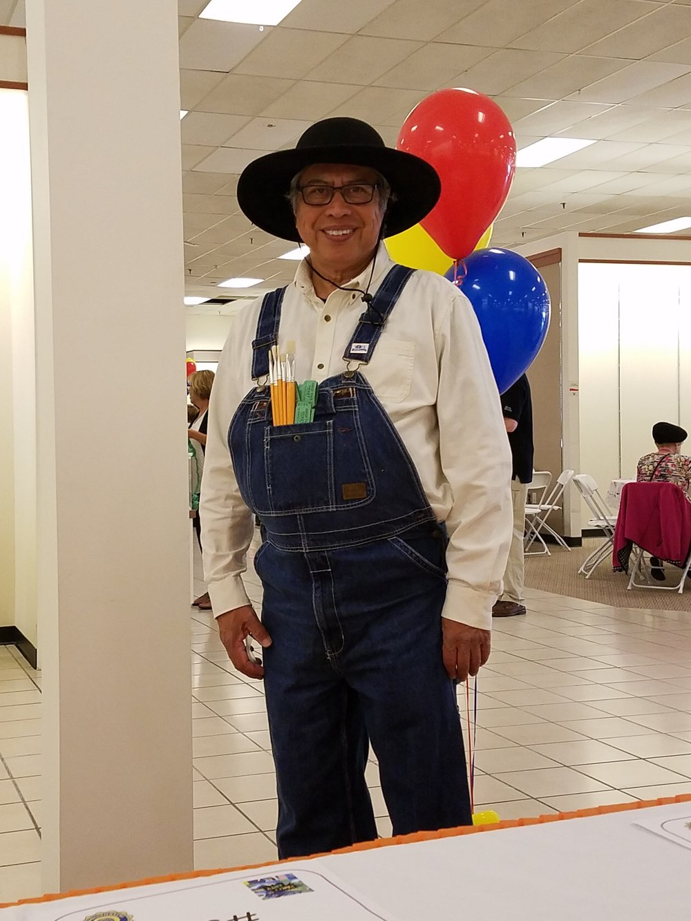 President Joel Rodriguez (2016-2017) dressed up at our 2017 Grand Giveaway.