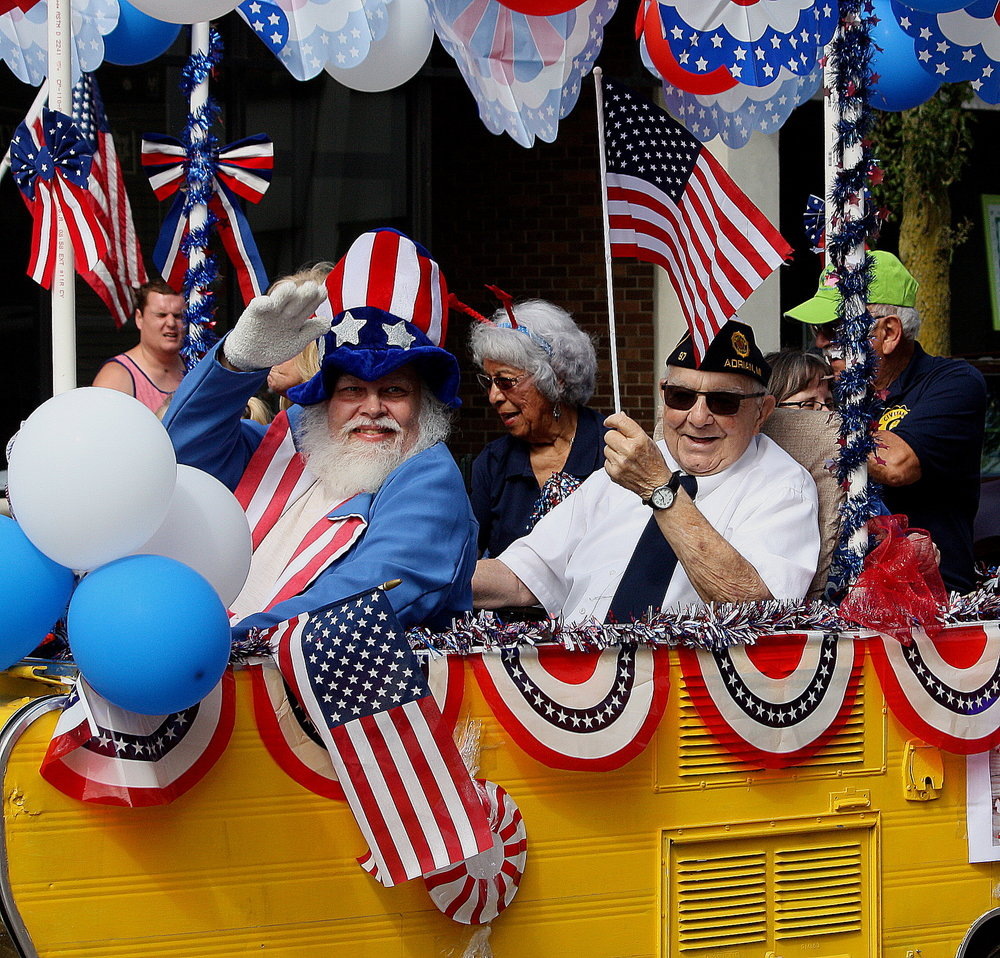 Civitan members are joined by Uncle Sam in our 4th of July parade.
