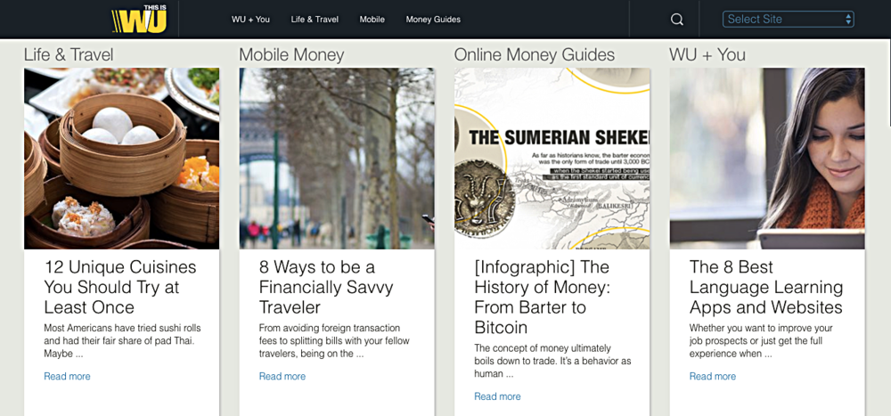 Western Union: Blog Revitalization & Relaunch Project