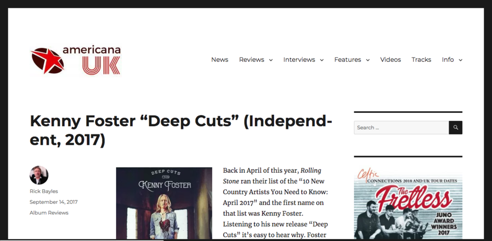 Americana UK - Deep Cuts Album Review