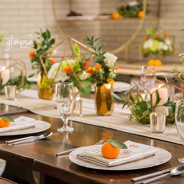 Sneak peek of our amazing style shoot with @inaglimpsephoto  at the beautiful @epicureanhotel! Decor rentals by @mmdevents and linens by @overthetoprentallinens. Such a fun day! 🍊