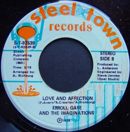 Erroll Gaye And The Imitations - Love And Affection (Steel Town Records).jpg