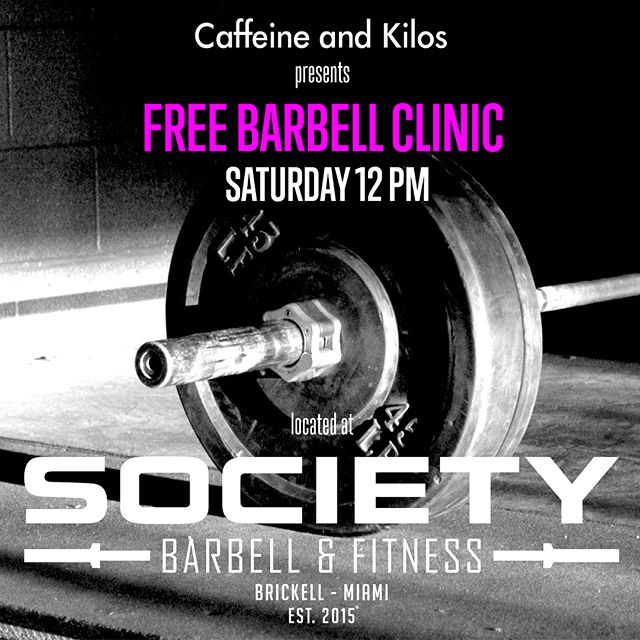 Join us Saturday for classes, open-gym or the FREE @caffeineandkilos Barbell Clinic!! #wza #wodapalooza #wzamiami