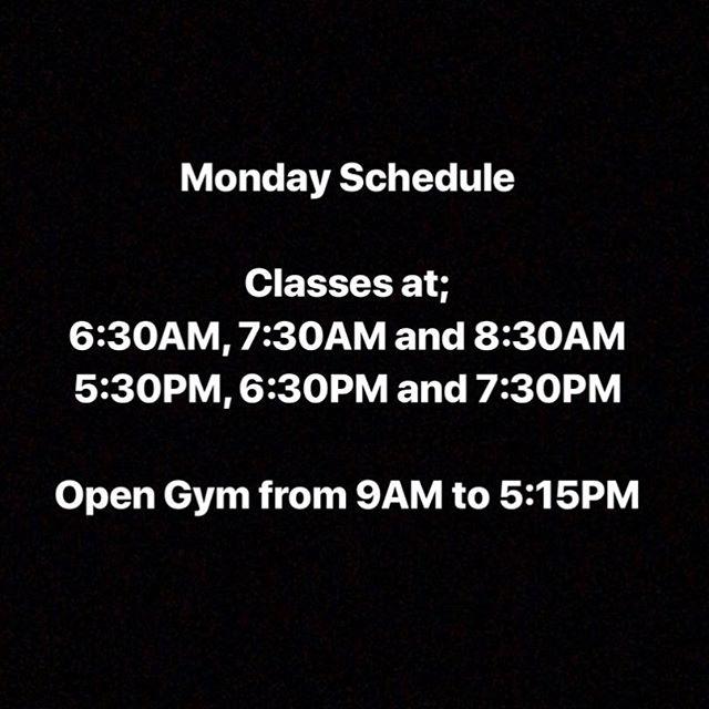 Monday schedule!! #wza #wzamiami #wodapalooza